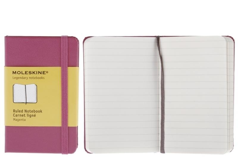 Moleskine Notitieboek Gelinieerd ROZE magenta 9x14cm (Pocket)