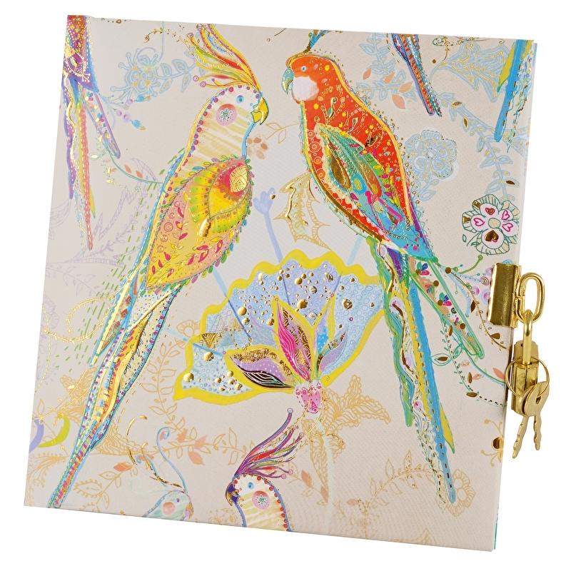 Turnowsky Silver Moon Parrot dagboek met slot