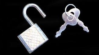 Metalen Mini hangslotje voor dagboek of juwelenkistje zilverkleurig [447]