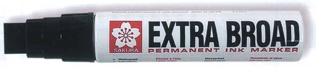 Sakura EXTRA BROAD permanent ink marker zwart XL