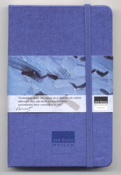 Moleskine SCHETSBOEK met zijden kaft Vincent van Gogh 9x14 BLAUW [119]