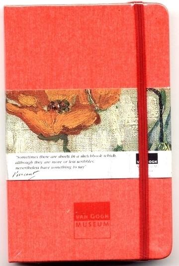 Moleskine SCHETSBOEK met zijden kaft Vincent van Gogh 9x14 ROOD [122]