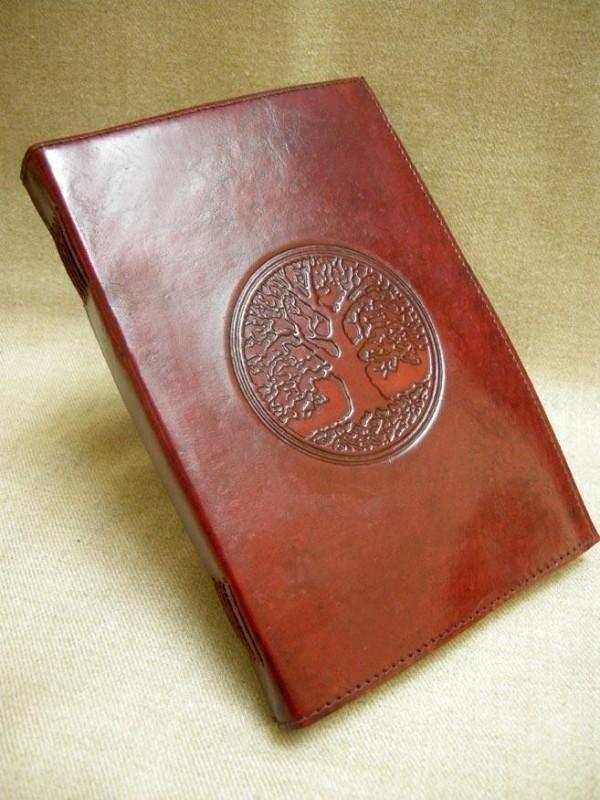 Paul-Francis leren dagboek Keltische Eikenboom  22 x 15cm C
