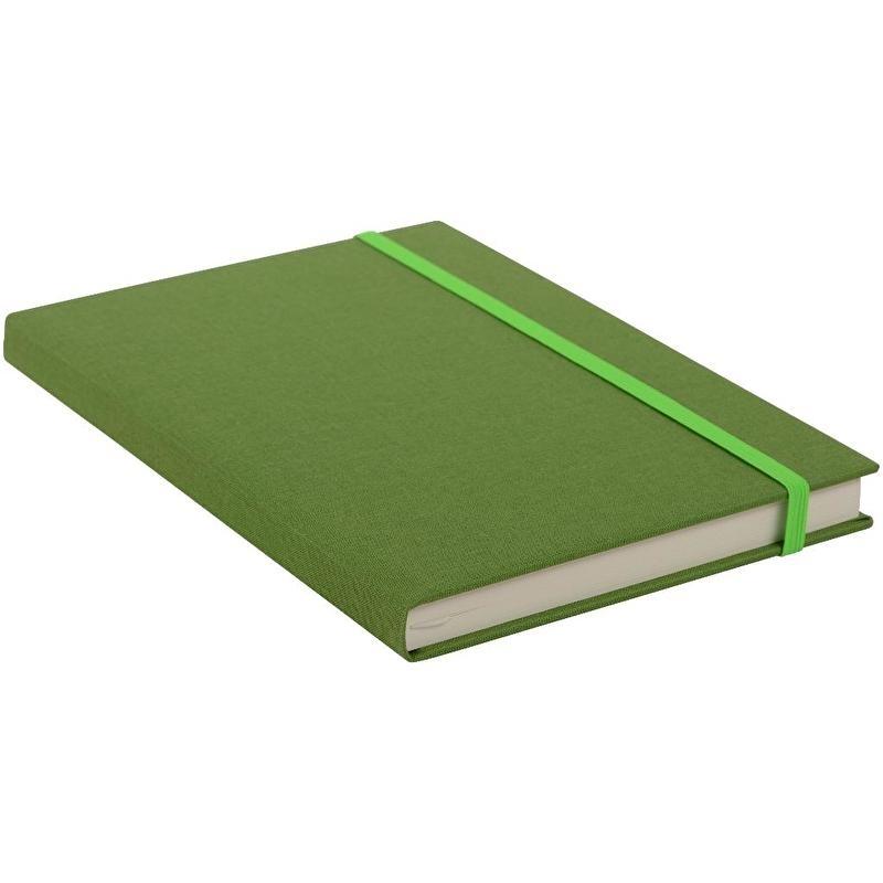 Goldbuch Linum gebonden gelinieerd Notitieboek 15,3 x 21,5cm Licht-Groen linnen