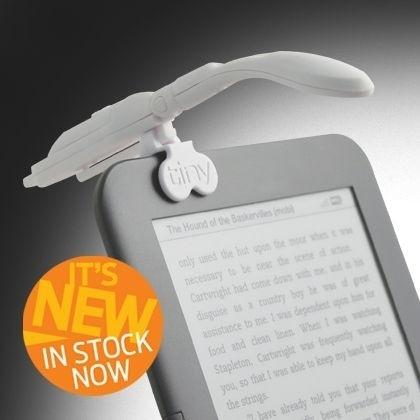 Leeslampje Clip-on Really Tiny Booklight  + e-reader-adaptor Wit [1920]