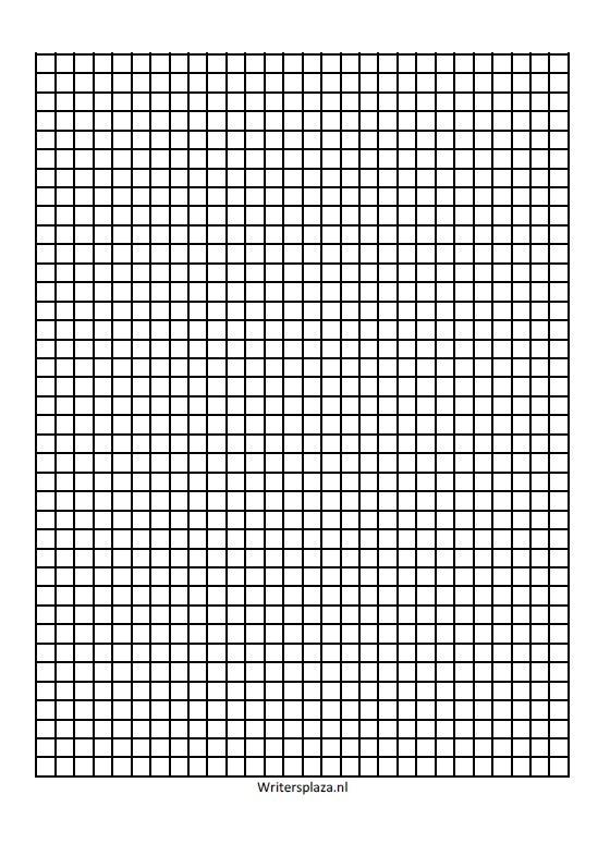 Lijnenvel RUITJES voor universeel A5 blanco notitieboek 5mm  [download]