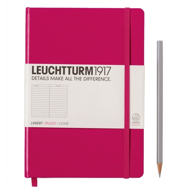 xx Leuchtturm1917 Notitieboek Gelinieerd 14.5 x 21cm (A5)  Berry bessenrood  [2601]