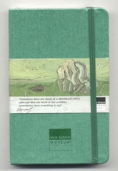 Moleskine SCHETSBOEK met zijden kaft Vincent van Gogh 9x14 GROEN [120]