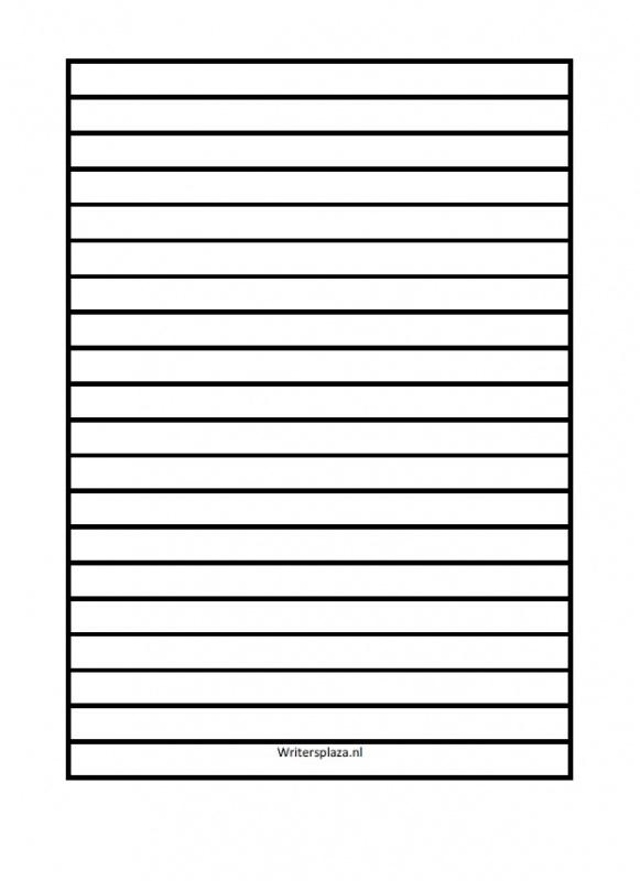 Lijnenvel voor universeel A5 blanco notitieboek 10mm  [download]