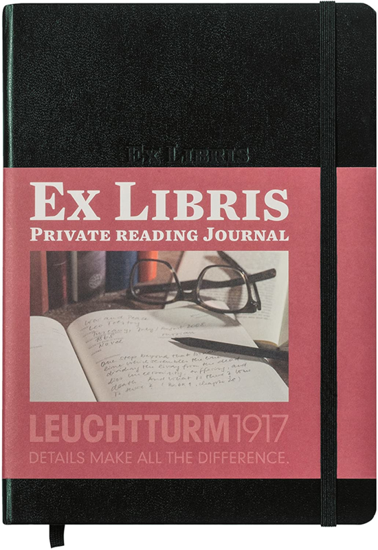 Leuchtturm1917 Ex libris Literatuurdagboek  A5 zwart