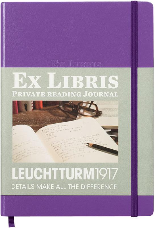 Leuchtturm1917 Ex libris Literatuurdagboek  A5 lilac violet paars