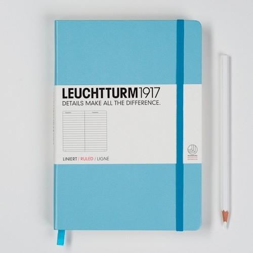 Leuchtturm1917 Notitieboek Gelinieerd 14.5 x 21cm (A5) Turquoise [368]