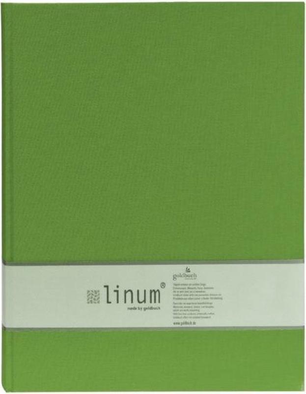 Goldbuch Linum gebonden blanco Notitieboek 15,3 x 21,5cm linnen oud model