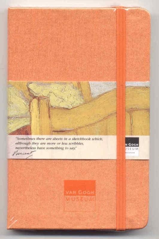 Moleskine SCHETSBOEK met zijden kaft Vincent van Gogh 9x14 ORANJE [121]