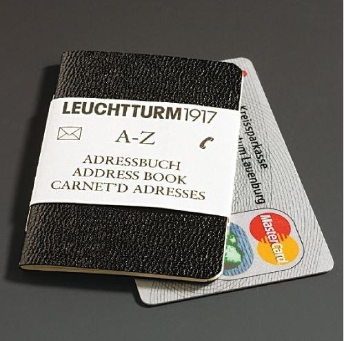 Leuchtturm1917 Mini adresboekje a-z register Creditcard formaat [346]