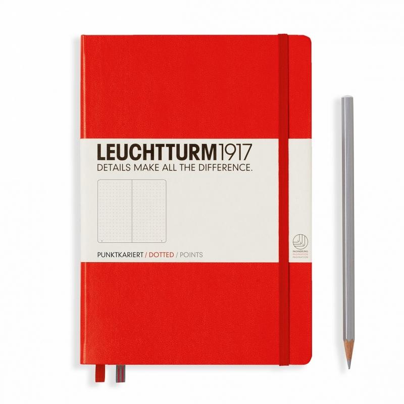 xx Leuchtturm1917 Notitieboek Dotted 14.5 x 21cm (A5)  Rood  [2603]