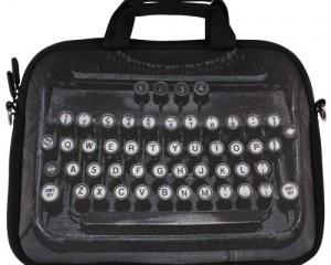 Retro schoudertas voor laptop of schetsboek Typewriter typmachine 15 inch