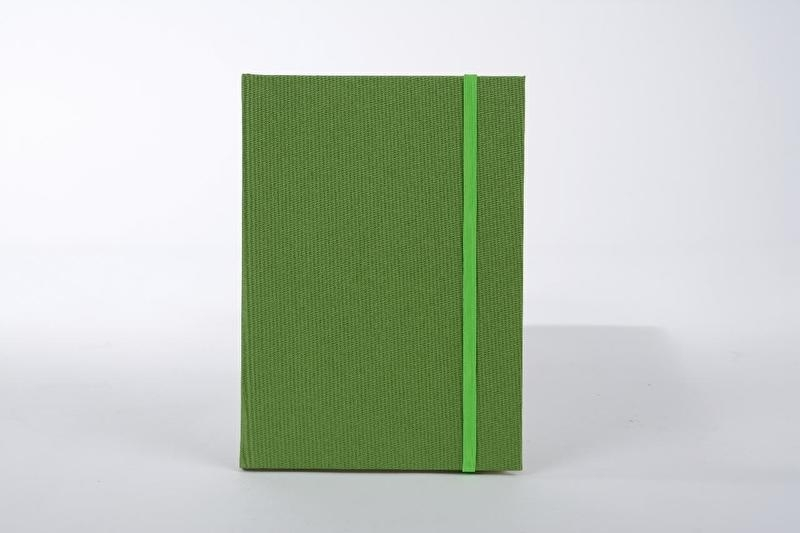 Goldbuch Linum gebonden blanco Notitieboek 15,3 x 21,5cm Licht-Groen linnen