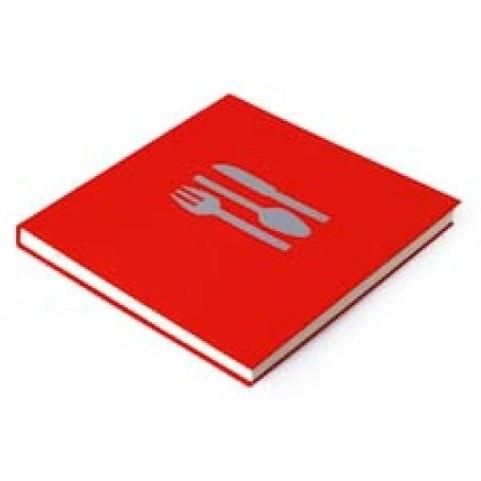 Bindewerk Pure Colour Kook- en Receptenboek rood [2191]