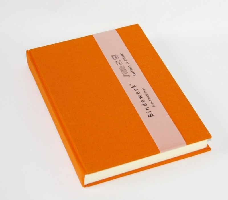 Bindewerk Pure Colour gelinieerd notitieboek A5 oranje