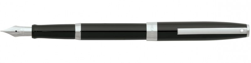 SHEAFFER Sagaris Vulpen glossy Zwart met Chroom [2264]