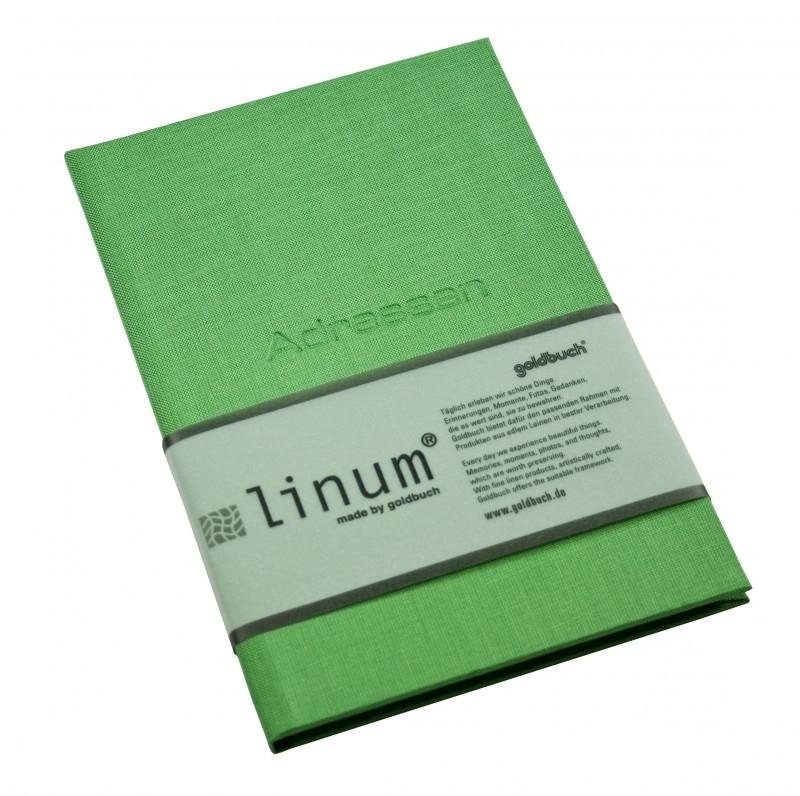 Goldbuch adresboek groen linnen