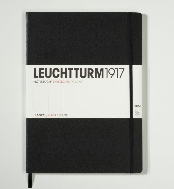 Hardcover Notitieboek Leuchtturm1917 Blanco Master SLIM - A4 Zwart [324]