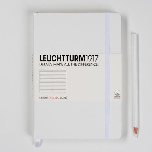 xx Leuchtturm1917 Notitieboek Gelinieerd 14.5 x 21cm (A5) Stralend wit [369]
