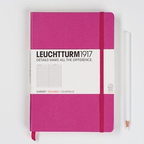 Leuchtturm1917 Colour Notitieboek Geruit 14.5 x 21cm (A5) pink [789]