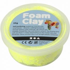 Foam Clay potje 35 gram neon geel