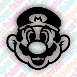 Mario glittertattoosjabloon