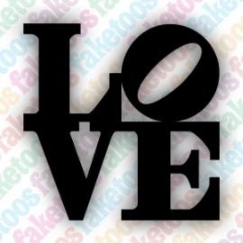 Love block glittertattoo sjabloon
