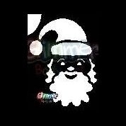 sjabloon kerst kerstman hoofd gb