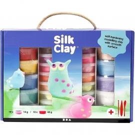 Silk Clay kadodoos 10x 40 g en 18x 14 gr basis en neon