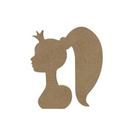 MDF prinsessenhoofd 15 cm