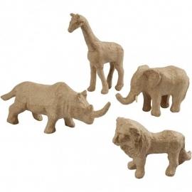 Tijdelijk uitverkocht Wilde dieren van papier mache - leeuw