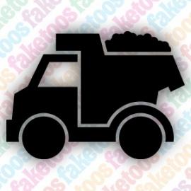 Vrachtwagen glittertattoo sjabloon