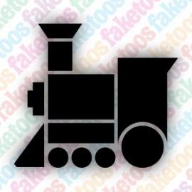 Trein glittertattoo sjabloon