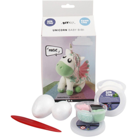Unicorn funny friend groen DIY met Silk Clay en Foam Clay