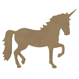Eenhoorn unicorn van MDF 26 cm lopend hg