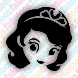 Prinses Sofia glittertattoosjabloon