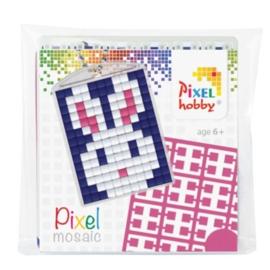 pixelhobby konijn sleutelhanger medaillon