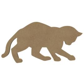 MDF spelende kat 15 cm