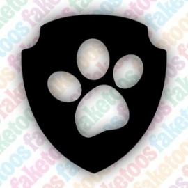 Paw Patrol logo glittertattoosjabloon