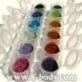 Glitter 6 pack morning mist ( zwart/blauw/turqoise/rose/paarslavendel/zilver) Code MM6p