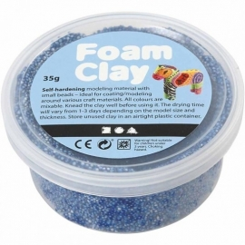 Foam Clay potje 35 gram blauw