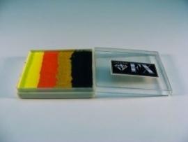 Rainbow SP6 groot  50 ml  Tacoliscious ( zwart/goud/oranje/neongeel)