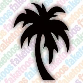 Palmboom glittertattoo sjabloon