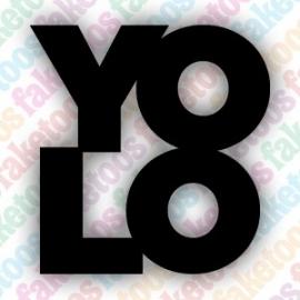 YOLO tekst glittertattoo sjabloon