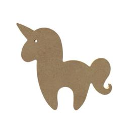 Eenhoorn unicorn van MDF 15 cm hg